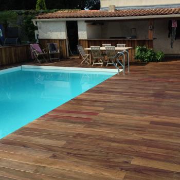Plage de piscine padouk La Rochelle